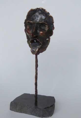 Bronze maske by Nina Hansen | skulptur