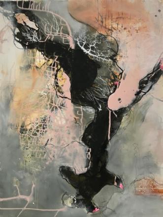 Abstrakt kvinde  by Nina Hansen | maleri