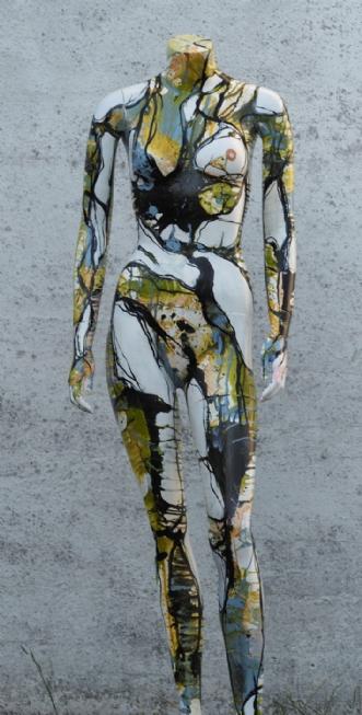 Mannequin malet med.. by Nina Hansen | diverse