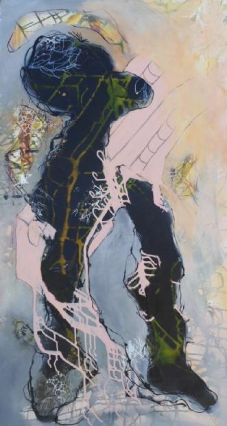 Abstrakt maleri  by Nina Hansen | maleri