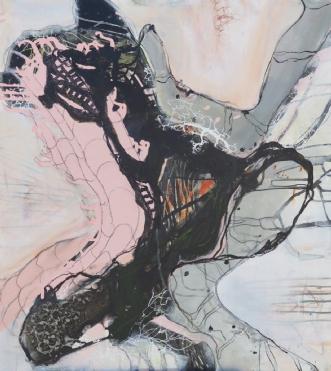 Maleri abstrakt  by Nina Hansen | maleri