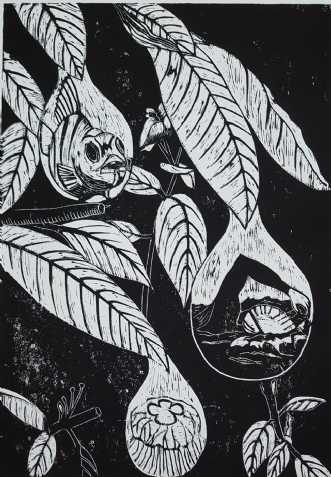 'Vanddråberne' by Britta Ortiz | grafik