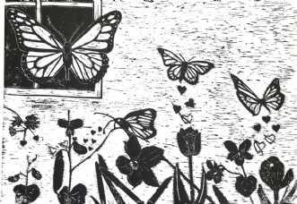 'Sommerfuglen' by Britta Ortiz | grafik
