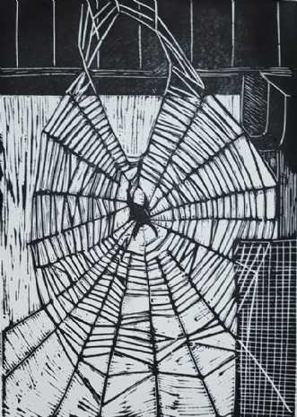 Spindelvævet by Britta Ortiz | grafik