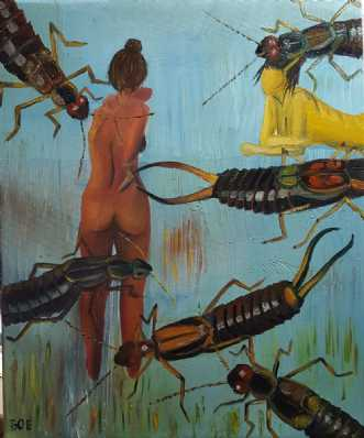 'Kryb destruerer ve.. by Britta Ortiz | maleri