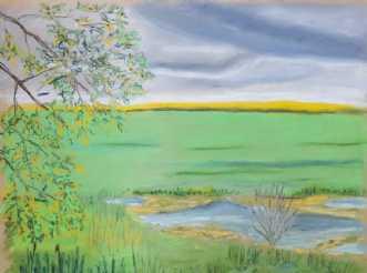 'En sø på Tuse Næs' by Britta Ortiz | tegning