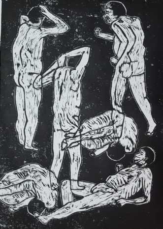 'Urmennesket - mand.. by Britta Ortiz | unikaramme