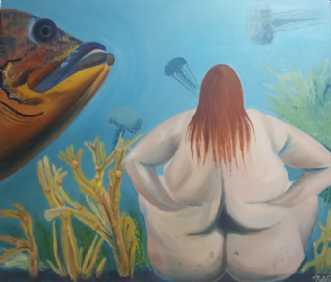 Uforståeligt by Britta Ortiz | maleri
