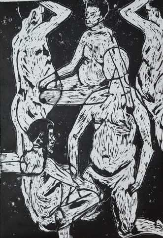 'Den bløde mand' by Britta Ortiz | maleri