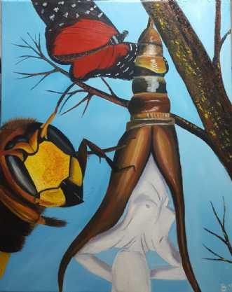 'Forvandlingen' by Britta Ortiz | maleri