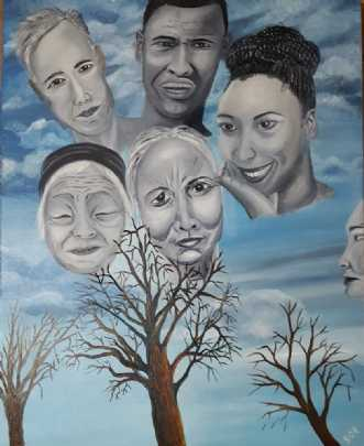 Ens forskellighed by Britta Ortiz | maleri