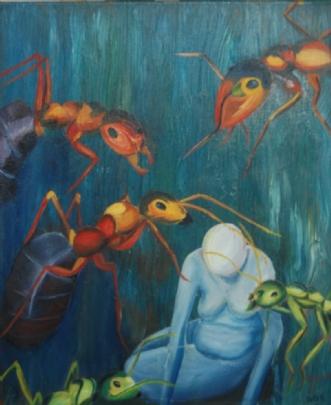 Menneskets skrøbeli.. by Britta Ortiz | maleri