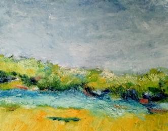 436 Om lidt...  by Helle Lundsgaard Christensen | maleri