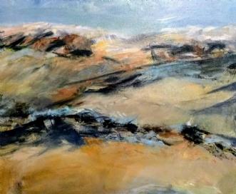 422 Med vinden i ry.. by Helle Lundsgaard Christensen | maleri