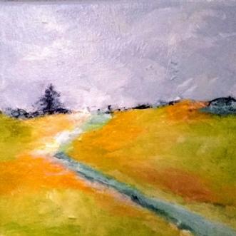 Nr. 392 Lige her..... by Helle L. Christensen | maleri