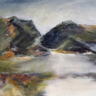 Nr. 412 Uden titel by Helle L. Christensen | maleri