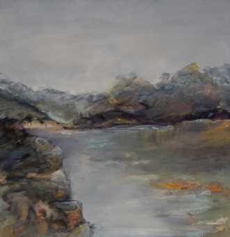 Nr. 413 Uden titel by Helle L. Christensen | maleri