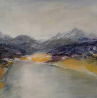 Nr. 414 Uden titel by Helle L. Christensen | maleri