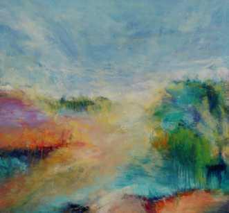 Nr. 377 Sommertid by Helle L. Christensen | maleri