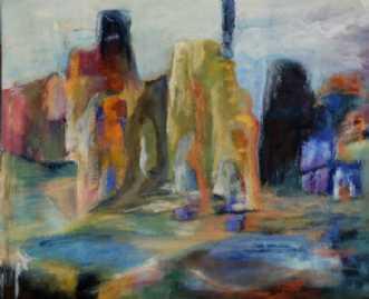 Nr. 227 Brudstykke by Helle L. Christensen | maleri