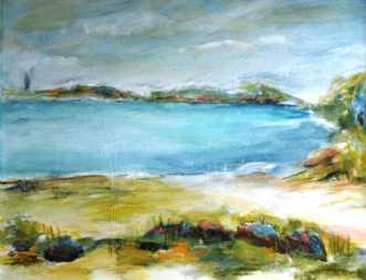 102 Med udsigt til .. by Helle L. Christensen | maleri