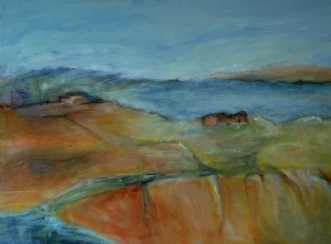 399 Over sø og land by Helle L. Christensen | maleri