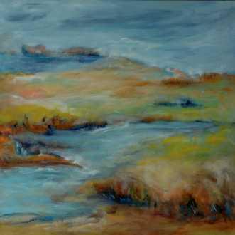 389 Gylden middelve.. by Helle L. Christensen | maleri