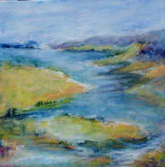 364 Forår i luften by Helle L. Christensen | maleri