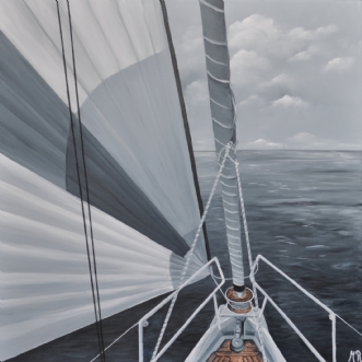 Going to sea nr 1 by Merete Roy | maleri
