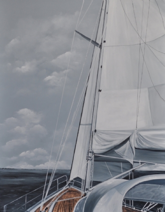 Going to sea nr 2 by Merete Roy | maleri