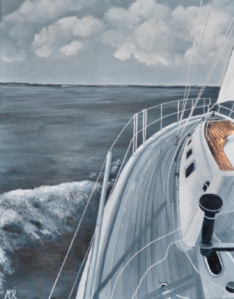 Going to sea by Merete Roy | maleri