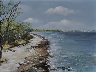 Stien langs vandet by Merete Roy | maleri