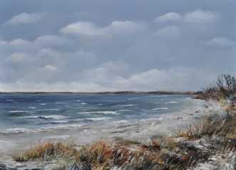 kyststrækning by Merete Roy | maleri