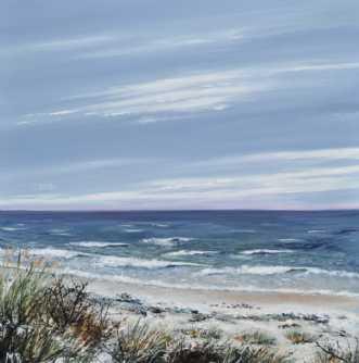 kysten by Merete Roy | maleri
