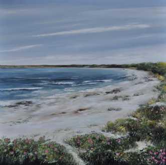 tur til stranden nr.. by Merete Roy | maleri