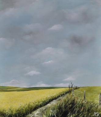 Forårs himmel by Merete Roy | maleri
