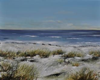 sandstrand by Merete Roy | maleri