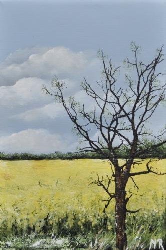 forår nr 1 by Merete Roy | maleri