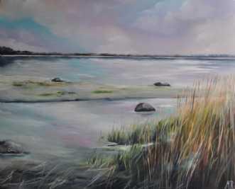 Strandkanten by Merete Roy | maleri