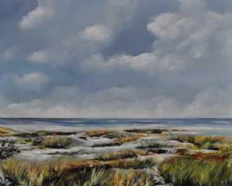 Strandengen by Merete Roy | maleri