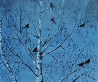 trætoppen by Merete Roy | maleri