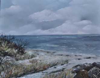 Udsigten nr 2 by Merete Roy | maleri