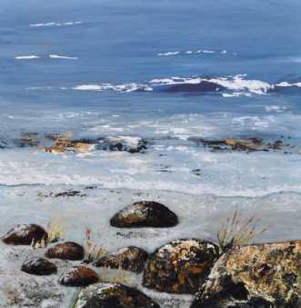 Tæt på strandkanten.. by Merete Roy | maleri
