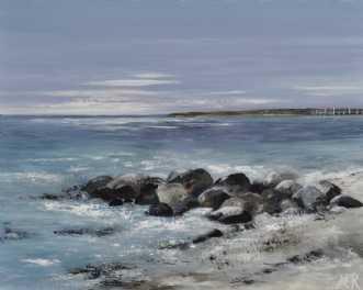 Danske strande nr 5 by Merete Roy | maleri
