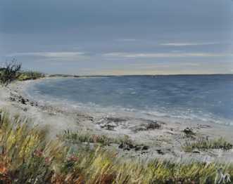 Danske strande nr 3 by Merete Roy | maleri