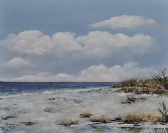 Danske strande nr 4 by Merete Roy | maleri