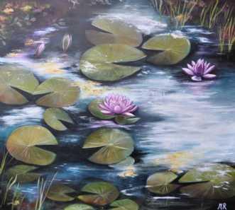 skovsøen by Merete Roy | maleri