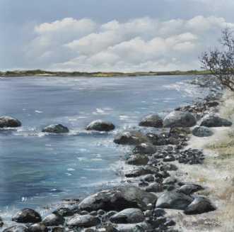 danske strande nr 6 by Merete Roy | maleri