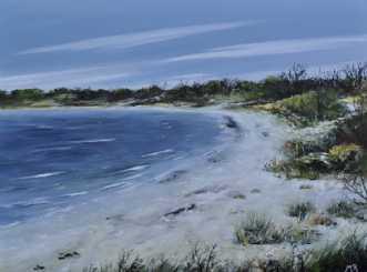danske strande nr 2 by Merete Roy | maleri