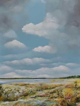 vådområdet by Merete Roy | maleri